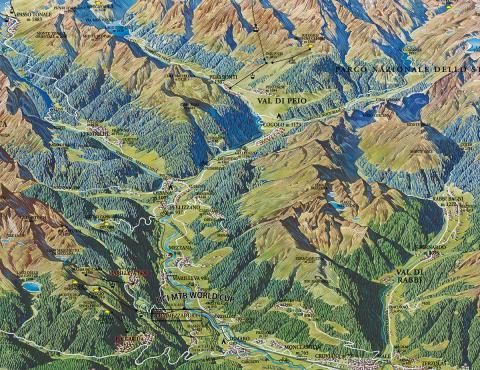 mappa  Val di Sole