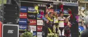 podio femminile_val di sole mtb world cup