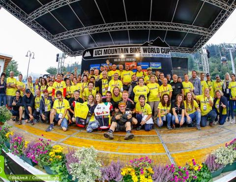 our volounteers_val di sole mtb world cup