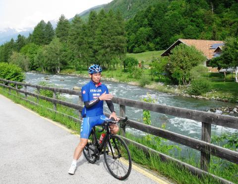Davide Cassani in Val di Sole 016
