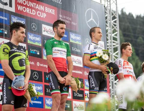 UCI MTB WORLD CUP VAL DI SOLE XCO_Ph. Michele Mondini podium