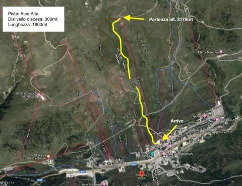 percorso pista Alpe Alta